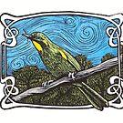 Yellow Throated Honey Eater by SnakeArtist