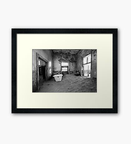 Abandoned in Kolmanskop Framed Print