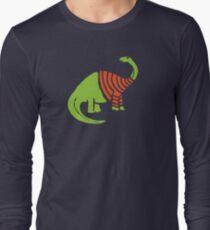 Brontosaurus in a Sweater  Long Sleeve T-Shirt