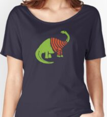 Brontosaurus in a Sweater  Women's Relaxed Fit T-Shirt