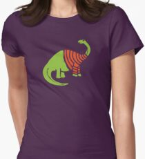 Brontosaurus in a Sweater  Womens Fitted T-Shirt