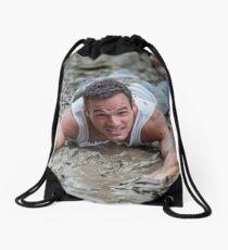 Dirty Model at Low Tide with John Drawstring Bag