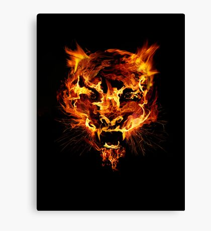 Tyger Tyger, Burning Bright Canvas Print