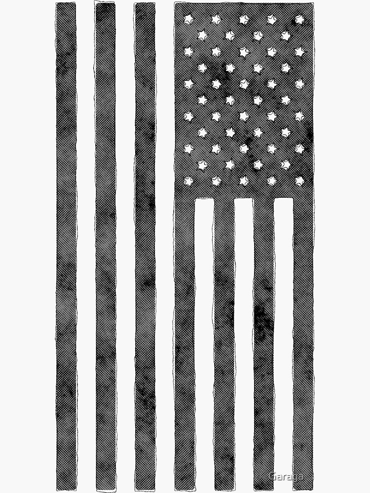 US-Flagge Grunge-Stil von Garaga