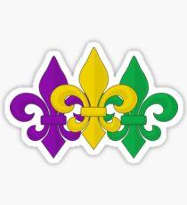 Mardi Gras Fleur-de-Lis Pattern Sticker