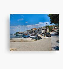 Thassos Town Harbour. Leinwanddruck