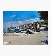 Thassos Town Harbour. Fotodruck