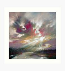 Loch Light Art Print
