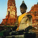 Robed Buddha Statue by SerenaB