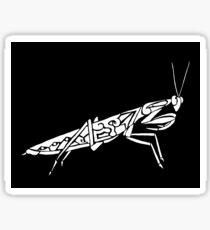Mantis Tribal Design - White Sticker