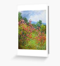 Blooming rododendrons Greeting Card