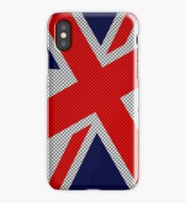 Union Jack on Carbon Fiber Style Print iPhone Case