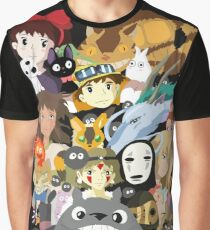 Studio Ghibli Collage Graphic T-Shirt