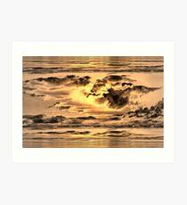Golden Microburst Art Print