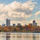 Denver Colorado Skyline Autumn View by Bo Insogna