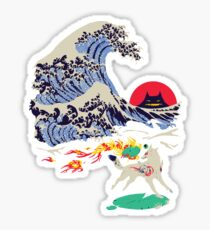 The Great Wave off Oni Island Sticker