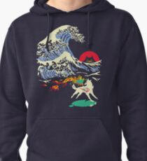 The Great Wave off Oni Island Pullover Hoodie