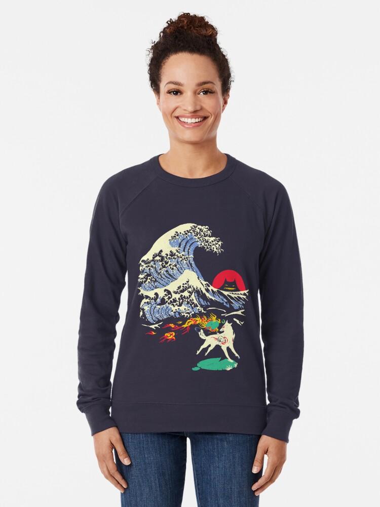 Alternate view of The Great Wave off Oni Island Lightweight Sweatshirt