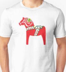 Red Dalahäst - Traditional Swedish pattern Unisex T-Shirt