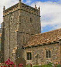 The Church of St Nicholas, Uphill Sticker