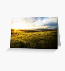 Wingham Sunset Greeting Card