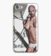 Taking  a shower in the water the pours down the wall of the River Thames in London with Valdii iPhone Case/Skin