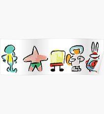 Sponge - Minimal - Digital Repaint Poster