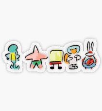 Sponge - Minimal - Digital Repaint [ROUFXIS - RB] Transparent Sticker