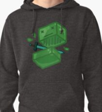 Slaying a slime Pullover Hoodie