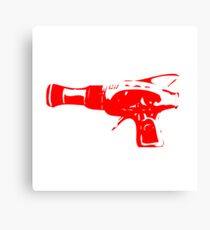 Alien Ray Gun - Red Canvas Print