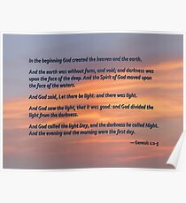 Genesis 1 1-5 In the Beginning Poster