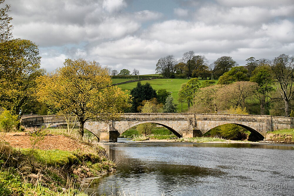 The Bridge at Sawley . by Irene  Burdell