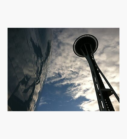 The Space Needle and EMP  Photographic Print