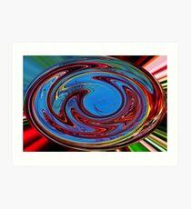 A colorful digital art photo Art Print