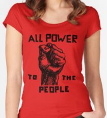 ALL POWER TO THE PEOPLE Women's Fitted Scoop T-Shirt