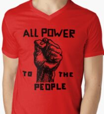 ALL POWER TO THE PEOPLE Men's V-Neck T-Shirt