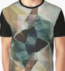 Abstract Grunge Triangles Graphic T-Shirt