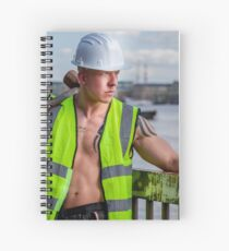 Working the walkways of the Thames in London with Ash Spiral Notebook