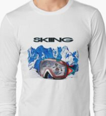 Vintage Snow Skiing gifts Long Sleeve T-Shirt
