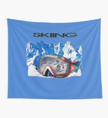 Vintage Snow Skiing gifts Wall Tapestry
