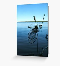 Ghost Net Boat Greeting Card