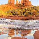 Cathedral Rock and Oak Creek, Sedona, AZ by Pete Paul