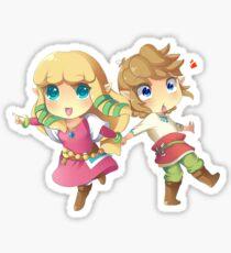 Legend of Zelda Skyward Sword: Chibi Link and Zelda Sticker