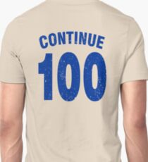 Team shirt - 100 Continue, blue letters T-Shirt