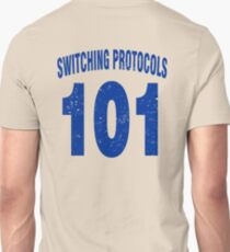 Team shirt - 101 Switching Protocols, blue letters Unisex T-Shirt