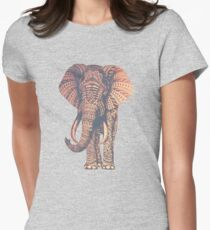 Fairy Elephant  Womens Fitted T-Shirt