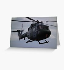 Westland Lynx(ZD278) Army Air Corp Greeting Card