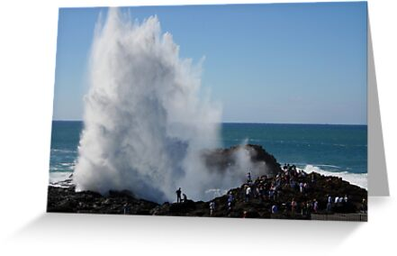 Crashing Wave At Kiama by Evita