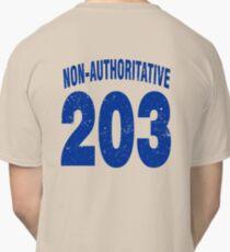 Team shirt - 203 Non-Authoritative, blue letters Classic T-Shirt