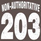Team shirt - 203 Non-Authoritative, white letters by JRon